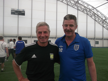 Dave Clarke and Willie Donachie